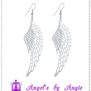 Náušnice Anjelské Krídla Veľké - STRIEBORNÉ