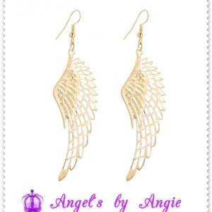 Náušnice Anjelské Krídla Veľké - ZLATÉ