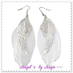 Náušnice Biele Krídla Anjela