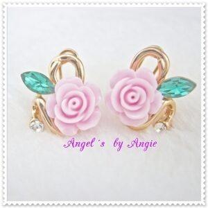 Náušnice Kvet Ruže - Rúžové